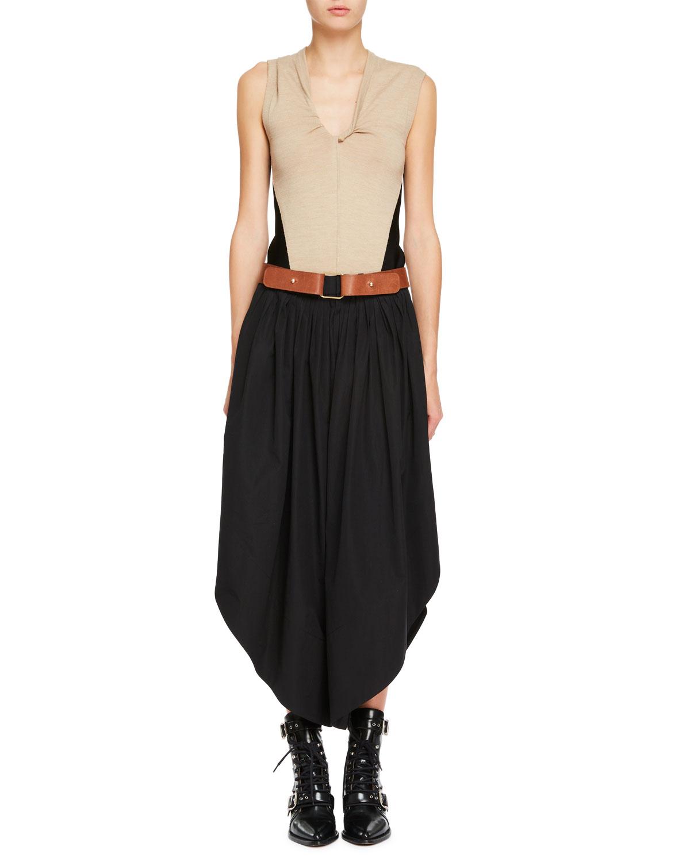 Wide-Leg Sahara Pants with Leather Belt