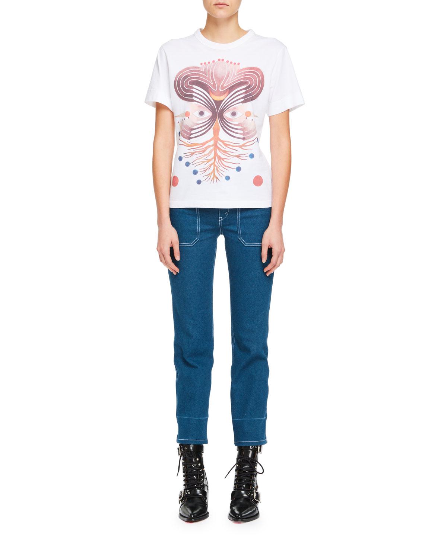 Short-Sleeve Graphic-Print Cotton Jersey T-Shirt