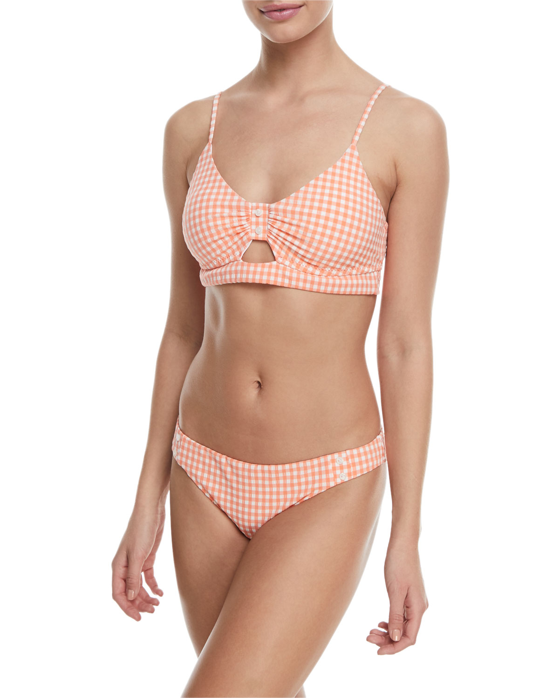 Capri Gingham Charmer Swim Bikini Bottom