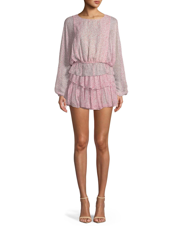 Tiered Ruffle Mini Skirt