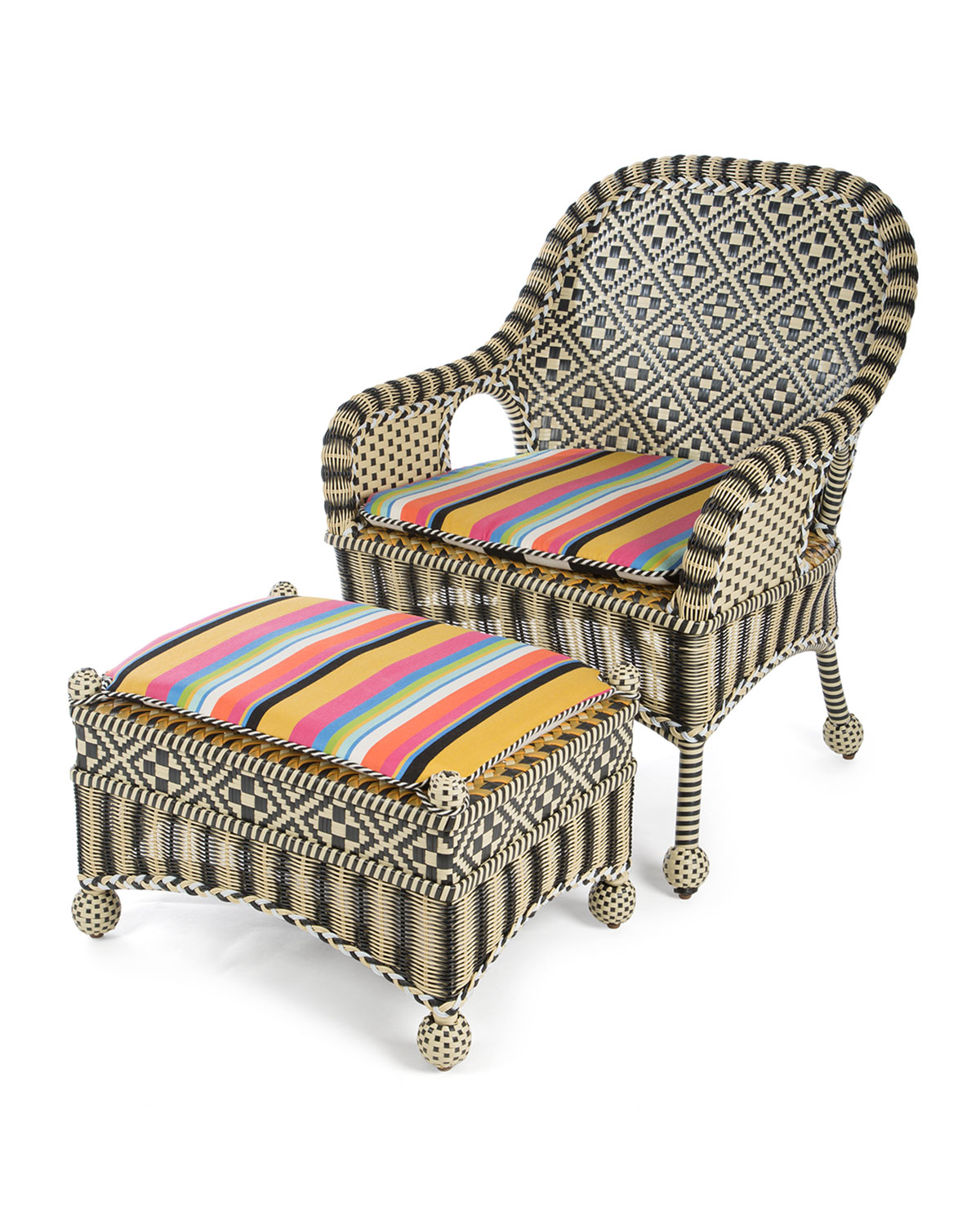 Courtyard Outdoor Chair  sc 1 st  Neiman Marcus & MacKenzie-Childs Morning Glory Outdoor Chair | Neiman Marcus