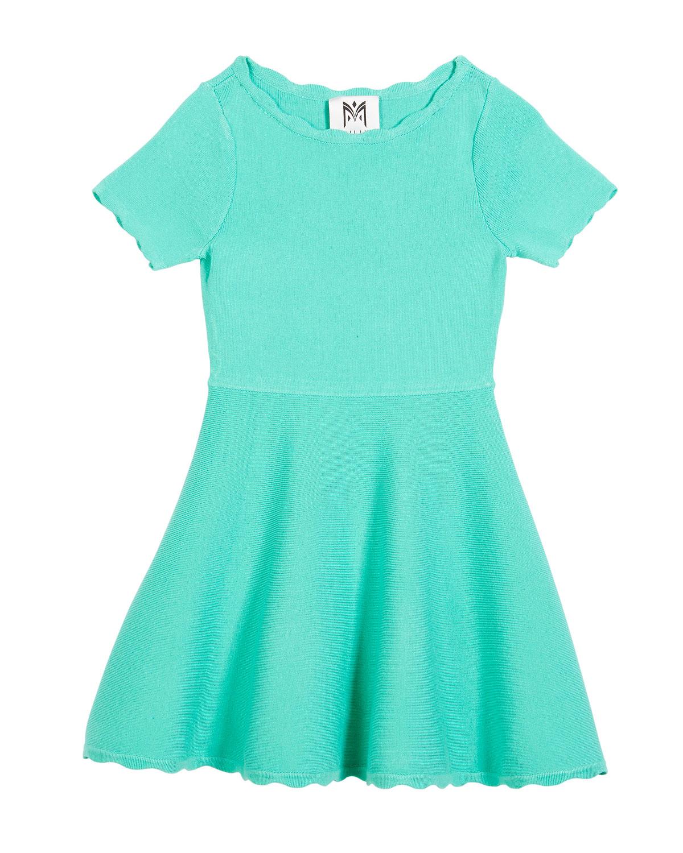 Scallop Flare Dress, Size 8-14