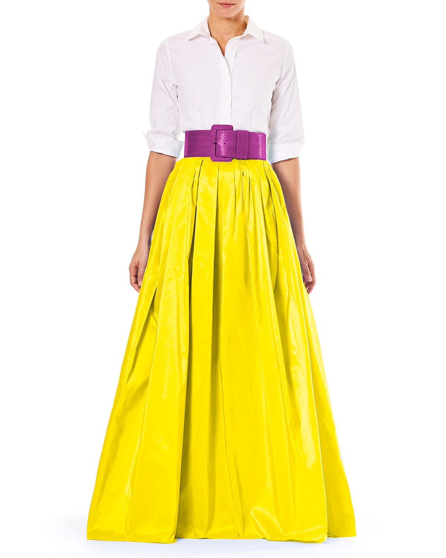 Carolina Herrera Shirtwaist Taffeta Ball Gown   Neiman Marcus