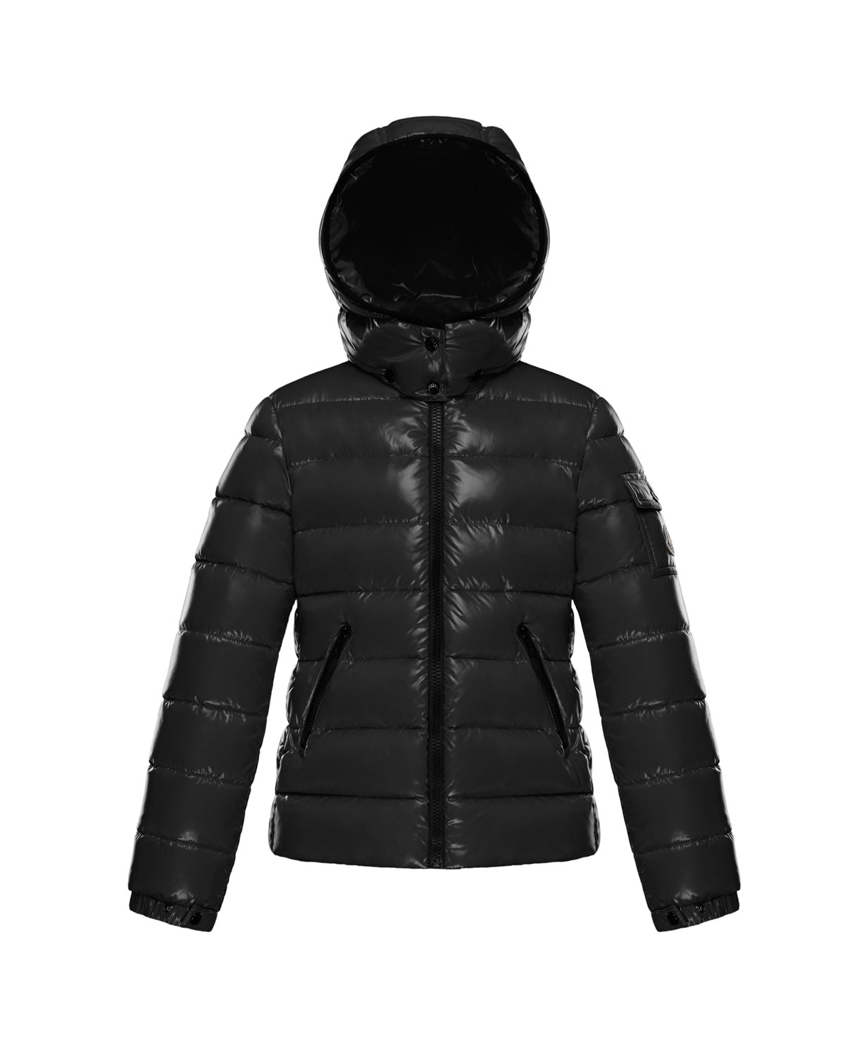 Bady Fitted Puffer Jacket, Black, Size 8-14. Moncler