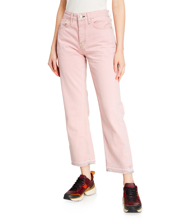Rag & Bone Jeans MAYA HIGH-RISE ANKLE STRAIGHT DENIM JEANS