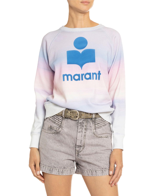 Etoile Isabel Marant T-shirts MILLY TIE-DYED LOGO SWEATSHIRT