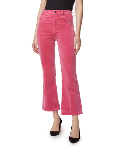 Julia High-Rise Velvet Flare Pants