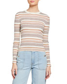 FRAME Striped Easy Rib Sweater