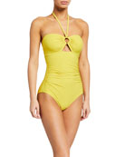 kate spade new york bandeau halter one-piece swimsuit