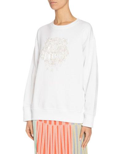 Embellished Tiger Logo Sweatshirt