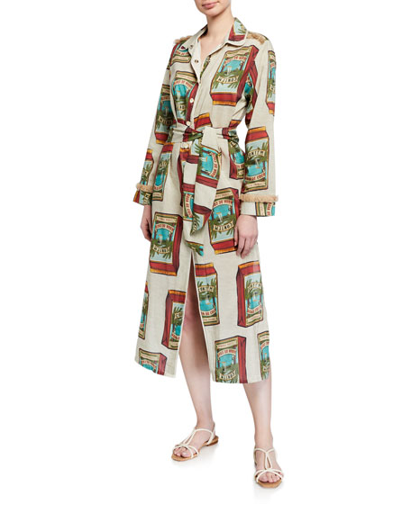 Agua de Coco Printed Button-Front Coverup