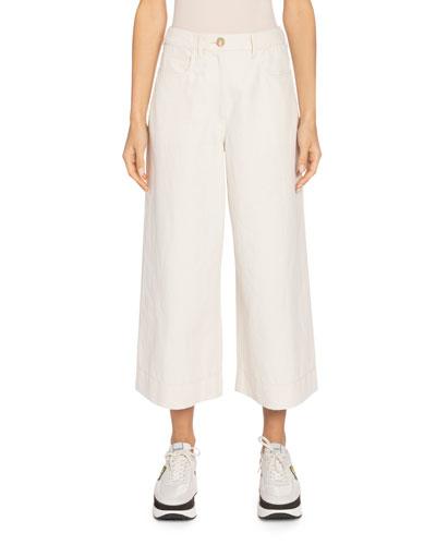 Mid-Rise Culotte Pants