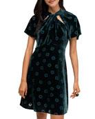 kate spade new york spade clover velvet dress