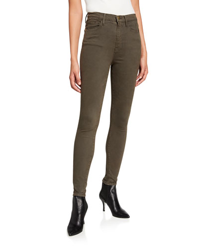 Ali High-Rise Sateen Skinny Jeans
