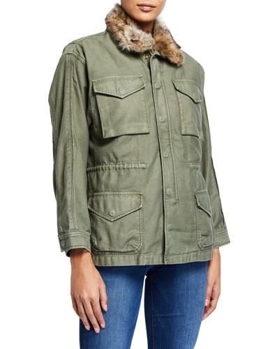 Service Jacket with Faux Fur