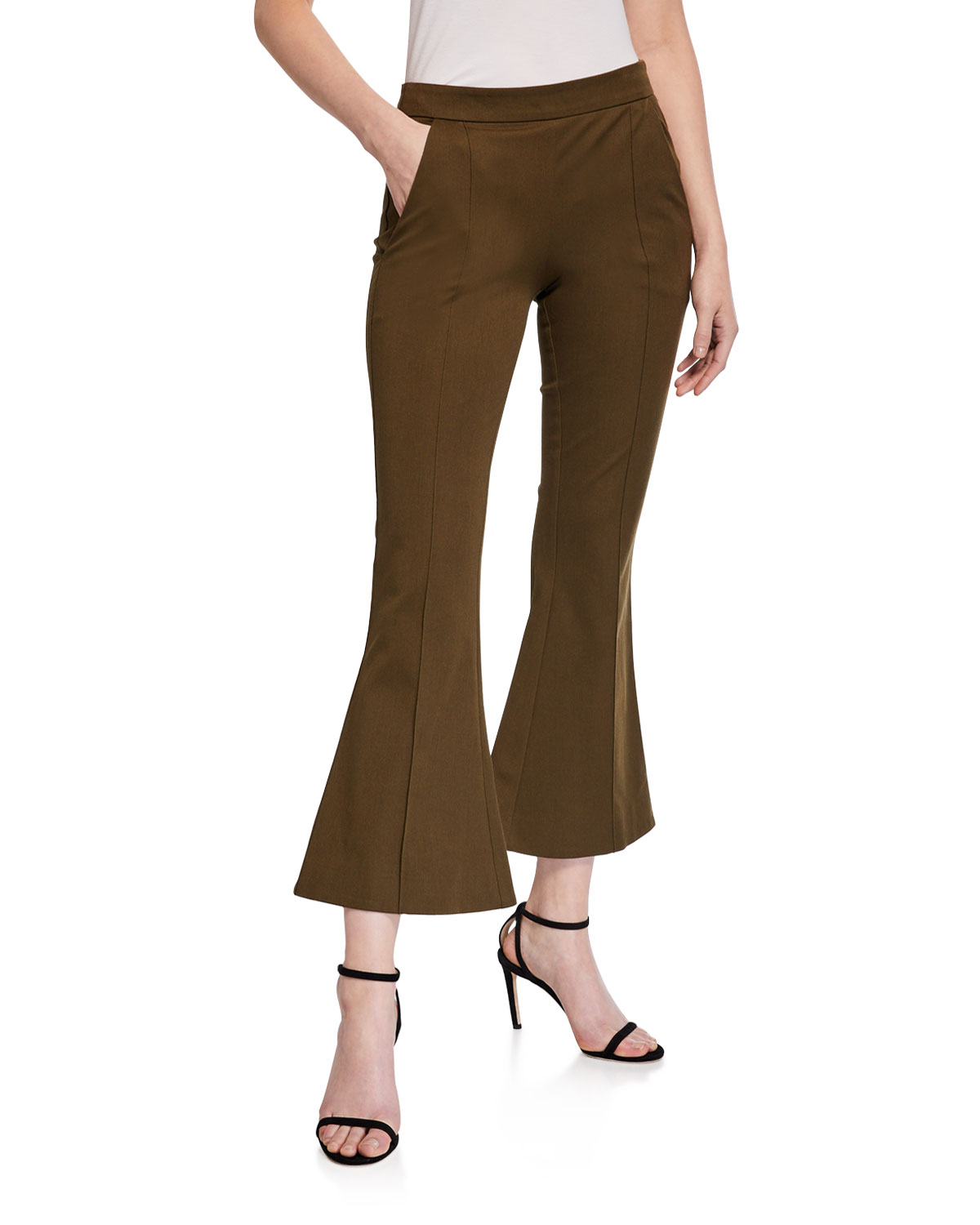 Maggie Marilyn Pants MEET ME AT SEVEN CROPPED FLARE PANTS