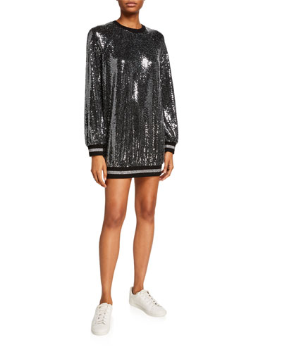 Mirror Ball Slouchy Mini Dress