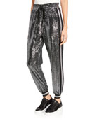 Pam & Gela Mirror Ball Sequined Side-Stripe Jogger