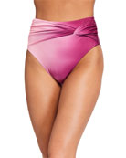 Jonathan Simkhai Ombre Tie-Front Bikini Top and Matching