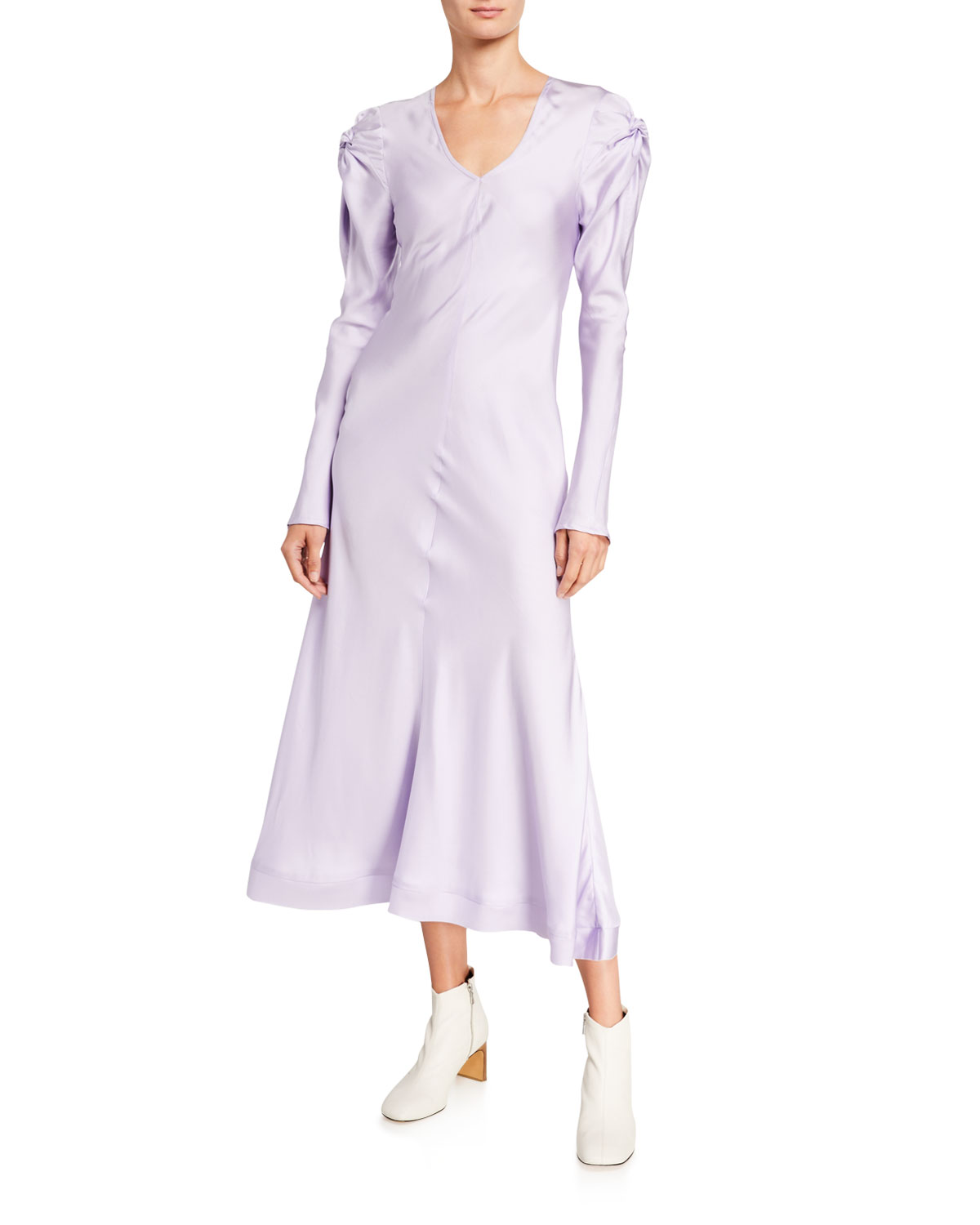 Maggie Marilyn Dresses KNOT TODAY LONG-SLEEVE SILK DRESS
