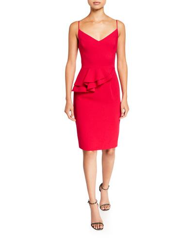 Sleeveless Peplum Sheath Dress