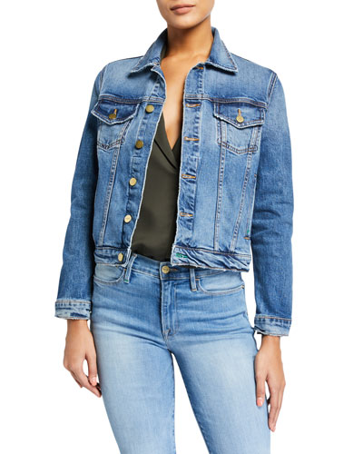 Le Vintage Cropped Denim Jacket