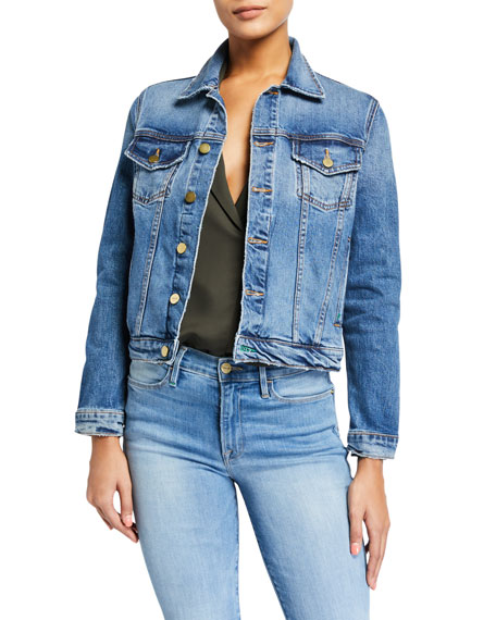 FRAME Le Vintage Cropped Denim Jacket