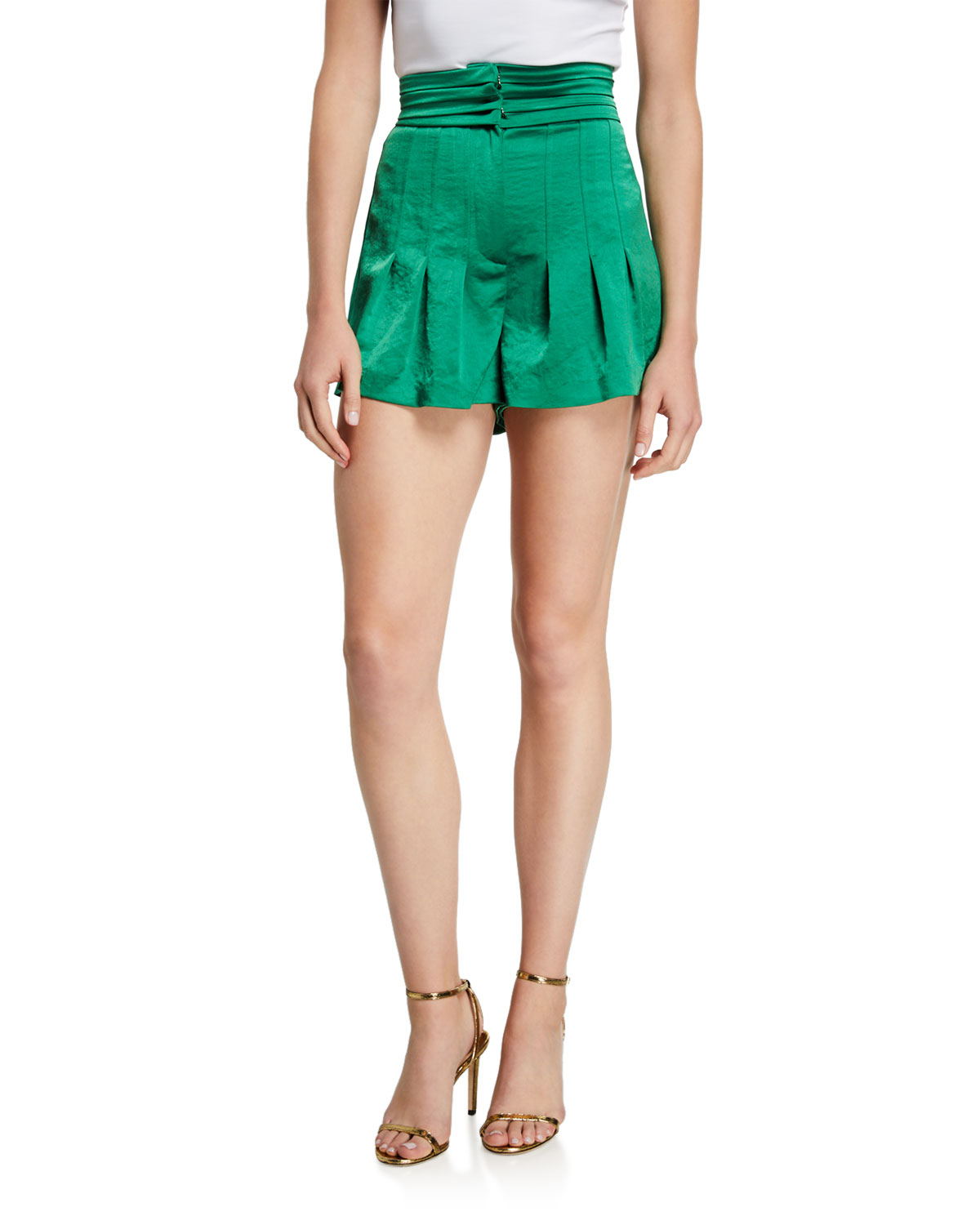 Alexis Shorts LUCCA PLEATED HIGH-RISE SHORTS