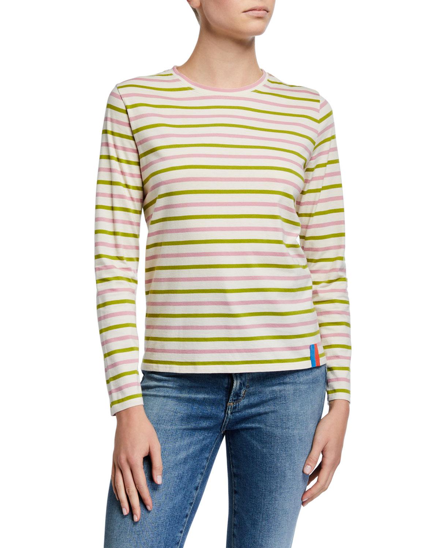 Kule T-shirts THE MODERN LONG-SLEEVE STRIPED SHIRT