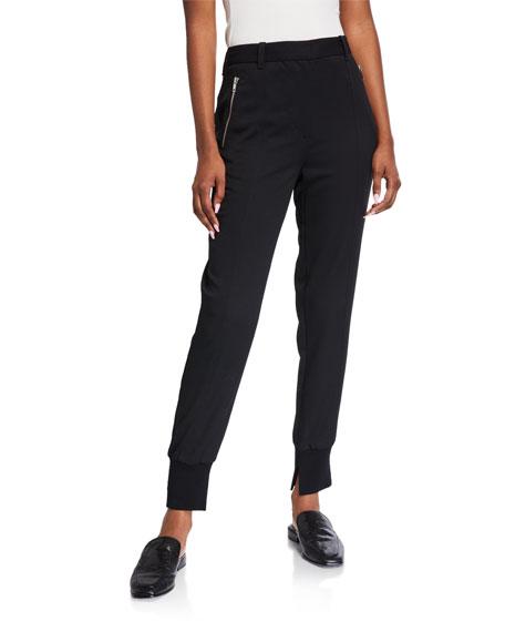 3.1 Phillip Lim Zip-Pocket Wool Jogger Pants