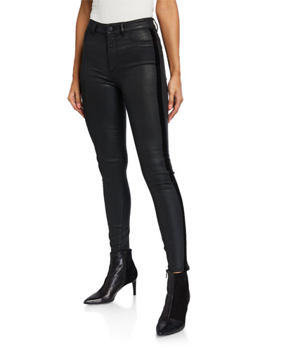 Farrow Coated Ankle High Rise Skinny Jeans