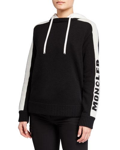 Logo-Sleeve Pullover Hoodie