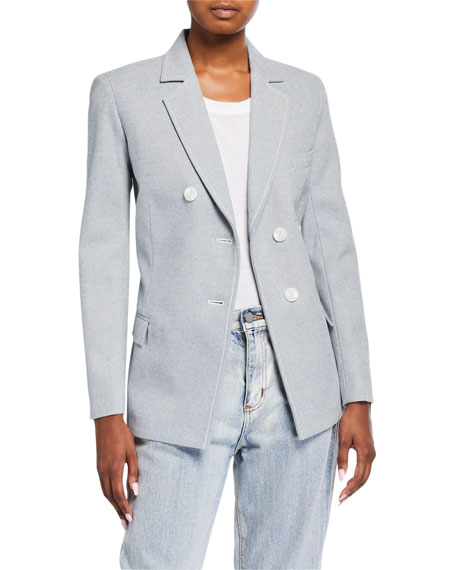 3.1 Phillip Lim Denim Asymmetric-Button Blazer