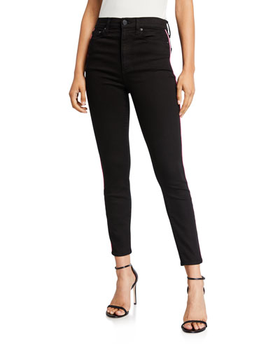 Good High-Rise Ankle Skinny Jeans with Piping