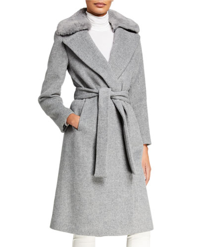 Baylee Coat with Faux-Fur Collar