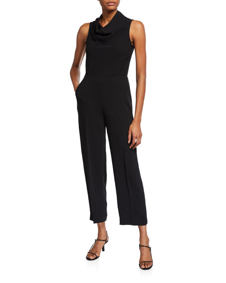 Club Monaco Cowl-Neck Sleeveless Jumpsuit