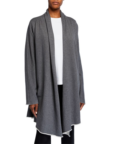 Draped Open-Front Coat