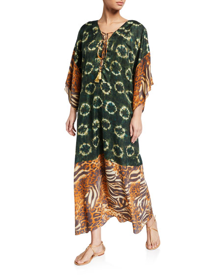 Miguelina Zaire Printed Pullover Coverup Dress