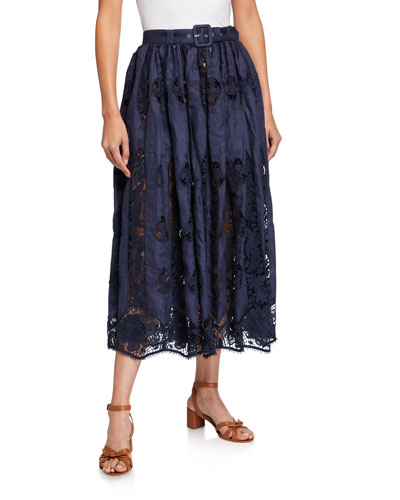 Penina Coverup Skirt with Granadilla Embroidery