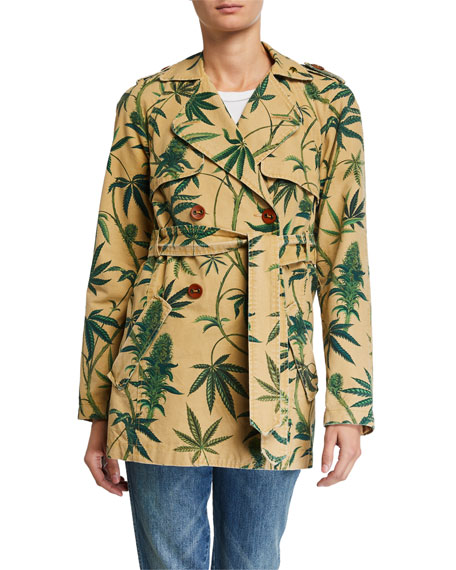 Le Superbe Take Me Higher Printed Trench Coat