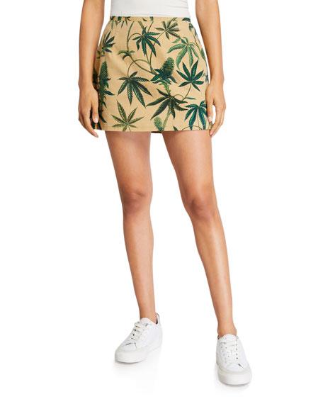 Le Superbe Acapulco Gold Printed Mini Skirt