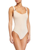 Hunza G Domino Scoop-Neck One-Piece Swimsuit