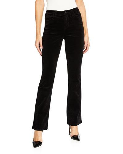 Oriana High-Rise Velvet Jeans