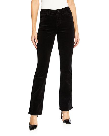 L'Agence Oriana High-Rise Velvet Jeans
