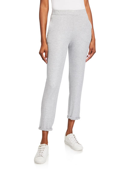 Majestic Filatures Metallic French-Terry Pull-On Pants
