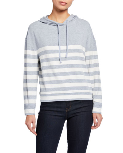 Striped Long-Sleeve Pullover Hoodie