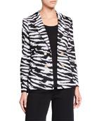 Misook Plus Animal Print Jacket
