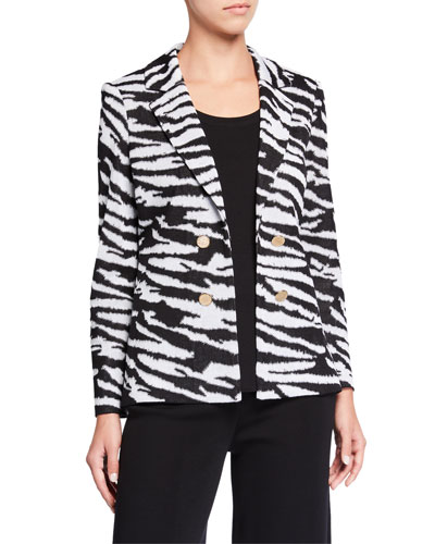 Plus Animal Print Jacket