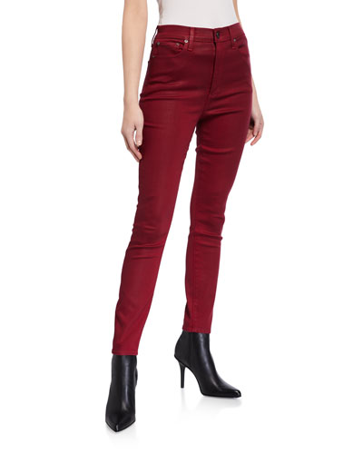 Good High-Rise Coated Skinny Ankle Jeans