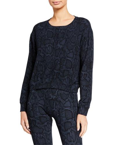 Python Crop Blouson Sweatshirt